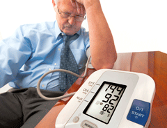 Having blood pressure monitored