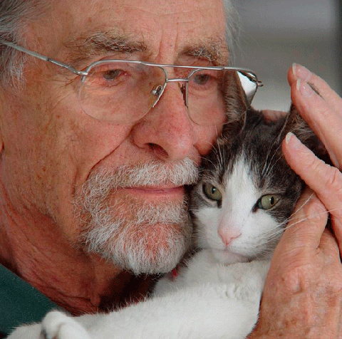 Man With Beloved Cat